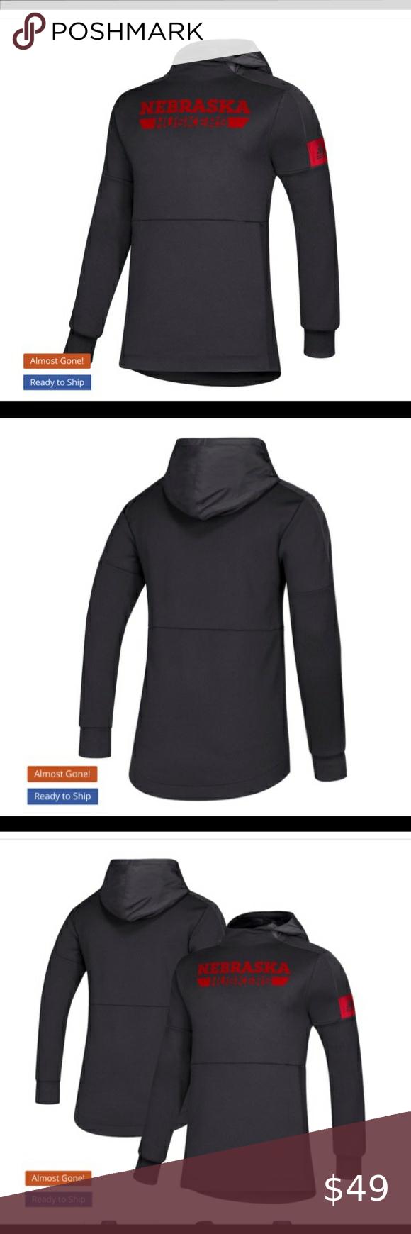 Adidas Nebraska Cornhuskers Game Mode Hoodie Nwt Black Dress Shirt Men Sweatshirts Hoodie Grey Adidas Hoodie [ 1740 x 580 Pixel ]