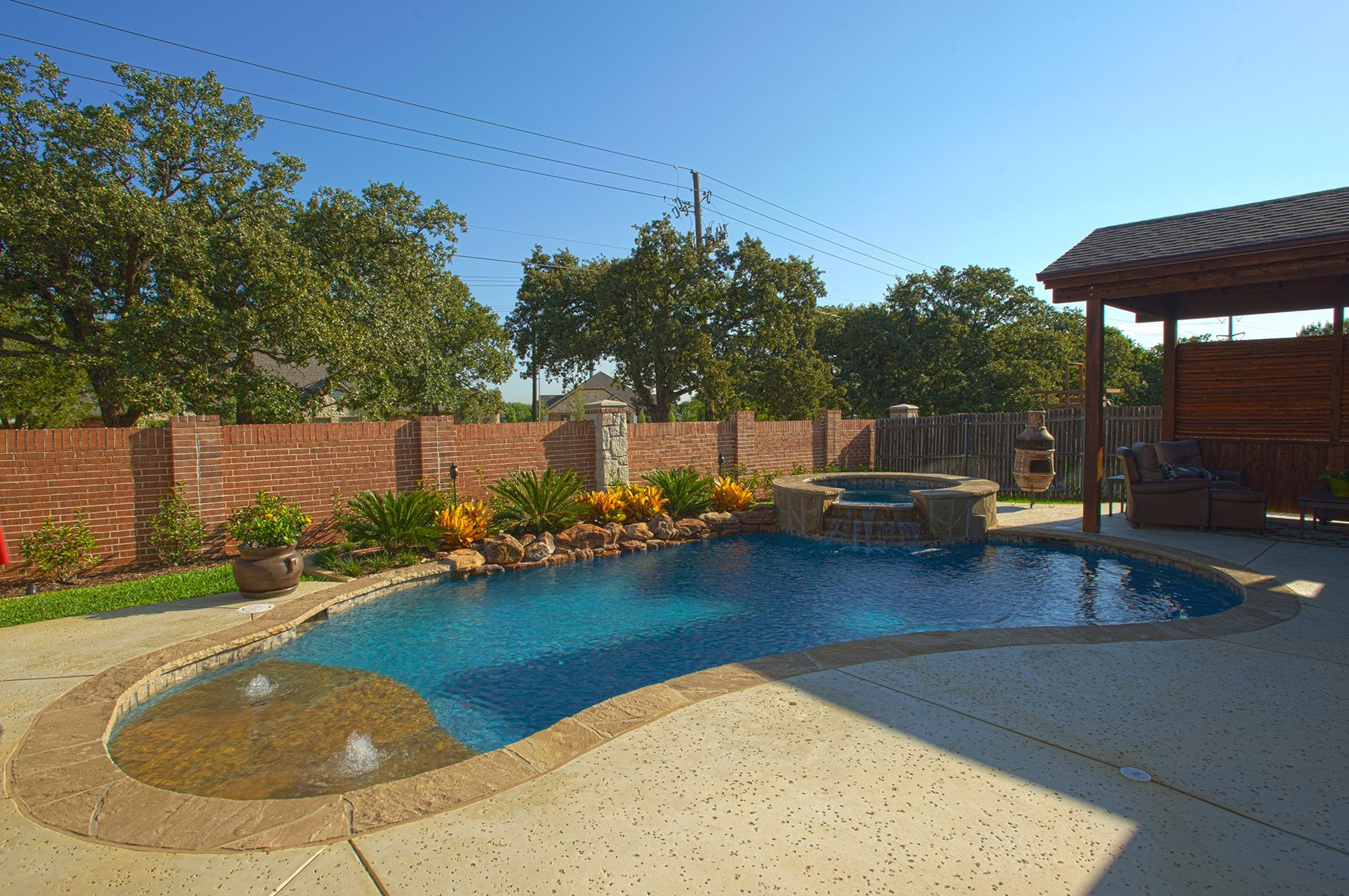 swimming pool beach entry new pool owner keller tx introduce yourself trouble free. Black Bedroom Furniture Sets. Home Design Ideas