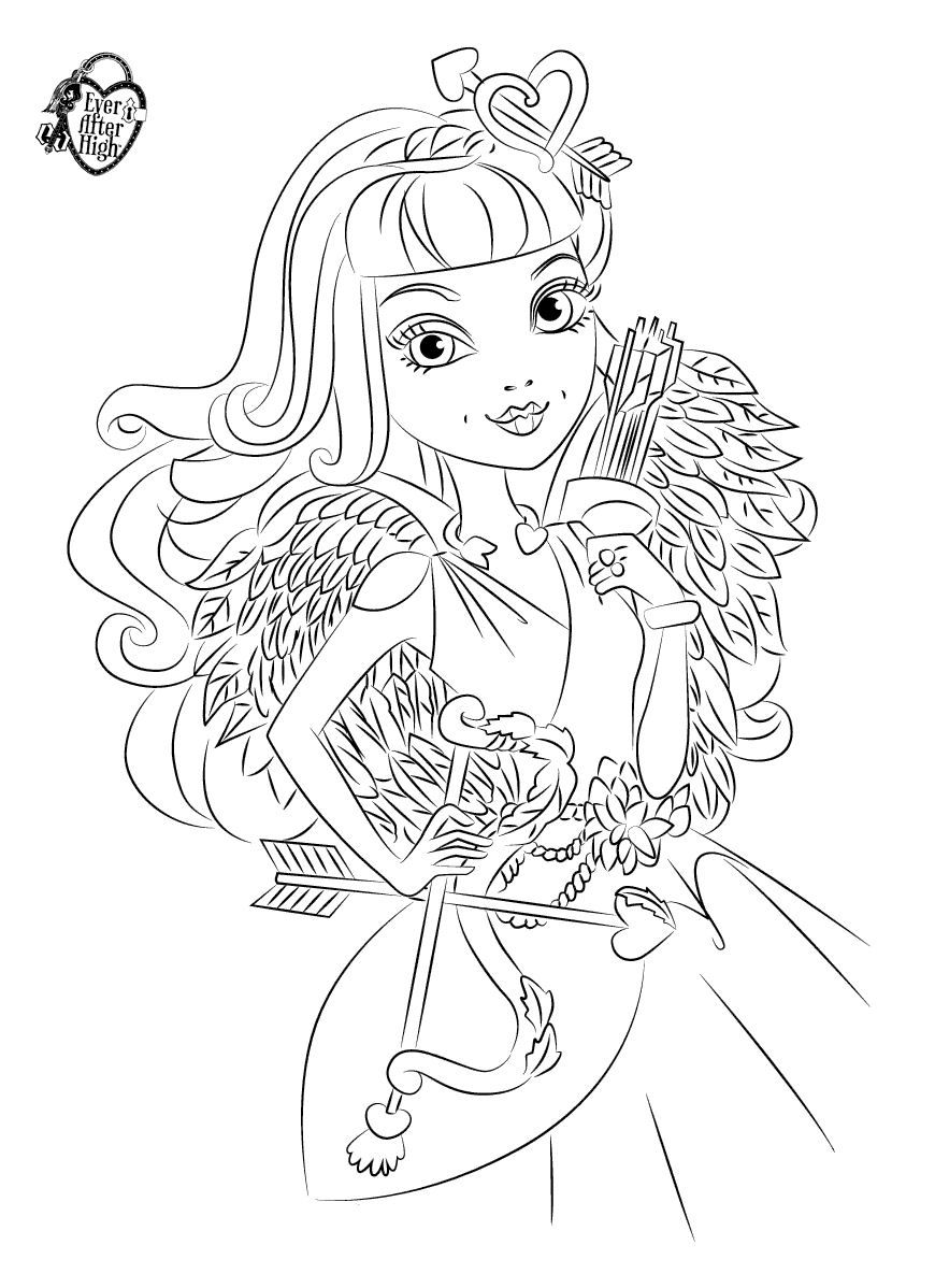 c-a-cupid.colorig page. | Cool printables | Pinterest