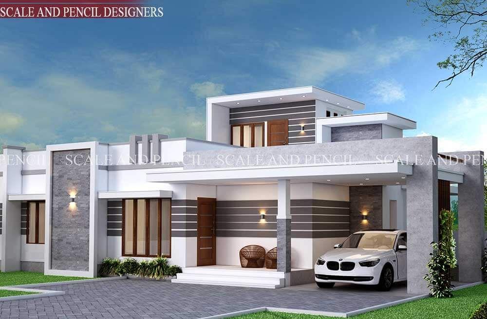 Exterior Home Design Kochi Ernakulam Exterior House Designs Kerala House Porch Design House Roof Design Bungalow House Design