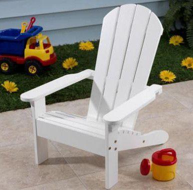 KidKraft 81 Adirondack Chair White