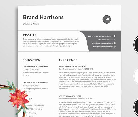 Resume/Professional resume template word / Modern Resume template + - create resume format