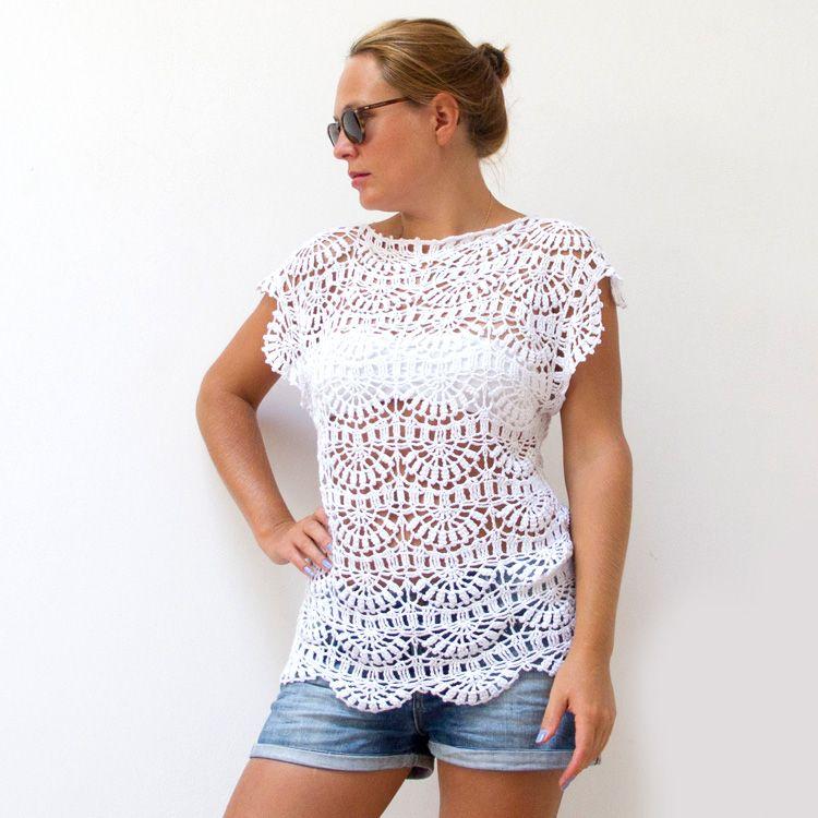 Katrinshine: Crochet tunic free pattern in a diagram but it looks ...