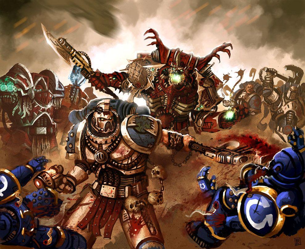 Battle Brothers By Vanagandr On Deviantart Warhammer Space Marine Warhammer Art
