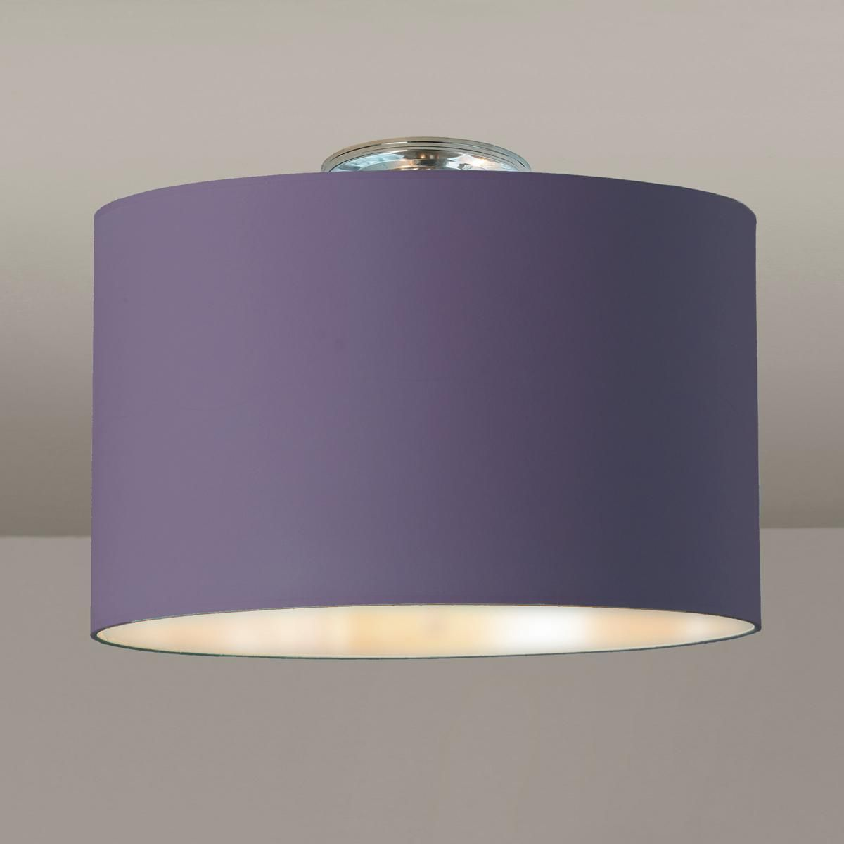 Colored Drum Shade Ceiling Light With
