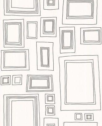 英國進口格蘭布朗牆紙兒童房客廳背景牆壁紙52050北歐風黑白相框-淘寶網