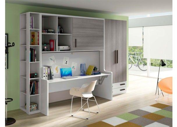 Dormitorio juvenil 601 332013 muebles multiuso pinterest muebles muebles cama y camas - Habitaciones juveniles camas abatibles horizontales ...