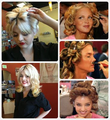 Setting your hair without rollers for Victoria Secret model hair