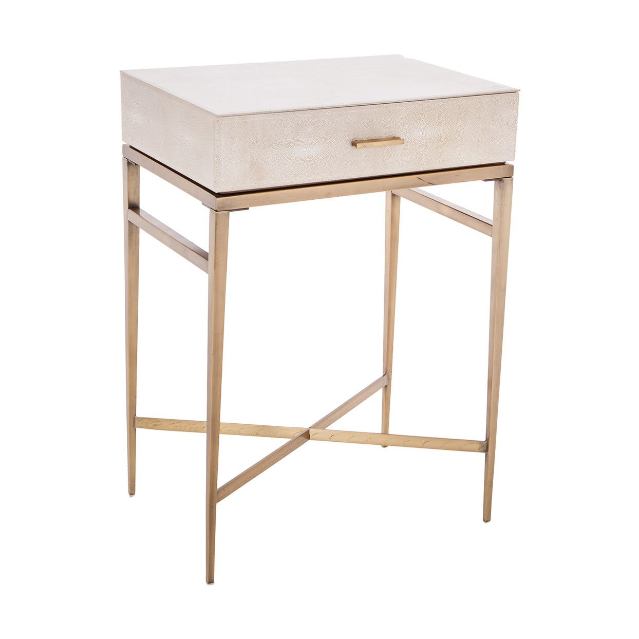 Lucile taupe shagreen gold side table bedrooms brass side table and master bedroom - Side table for bedroom ...