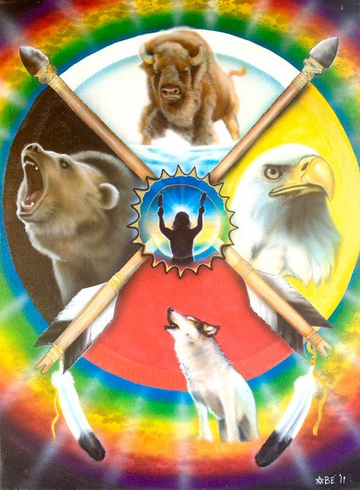 Native American Medicine Wheel by Amatzia Baruchi ...