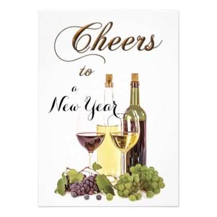 festive wine new year party invitation new years eve happy new year party design ideas