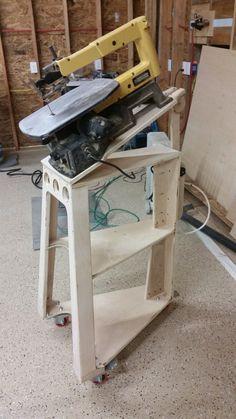 Inspired By Dewalt Scroll Saw Stand Woodworking Shop Plans Woodworking Shop Woodworking Shop Projects