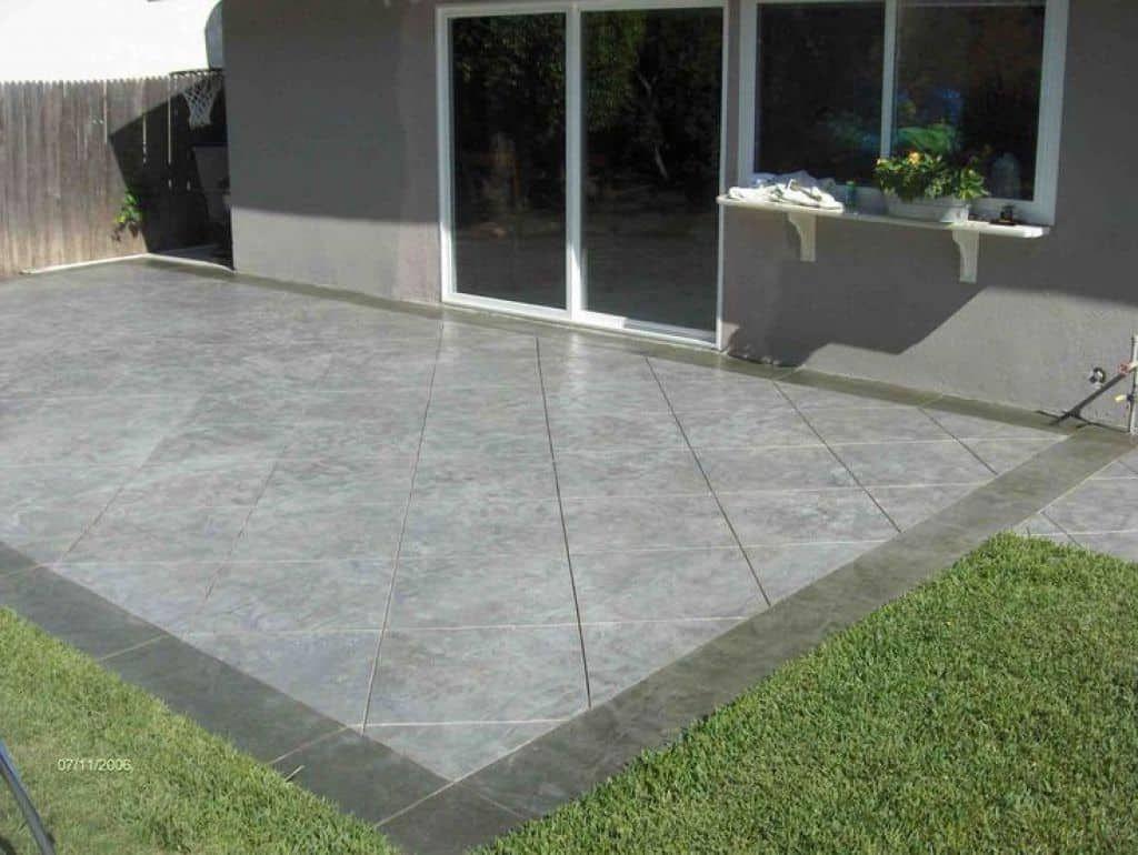 The Attractive Outdoor Concrete Patios Poured
