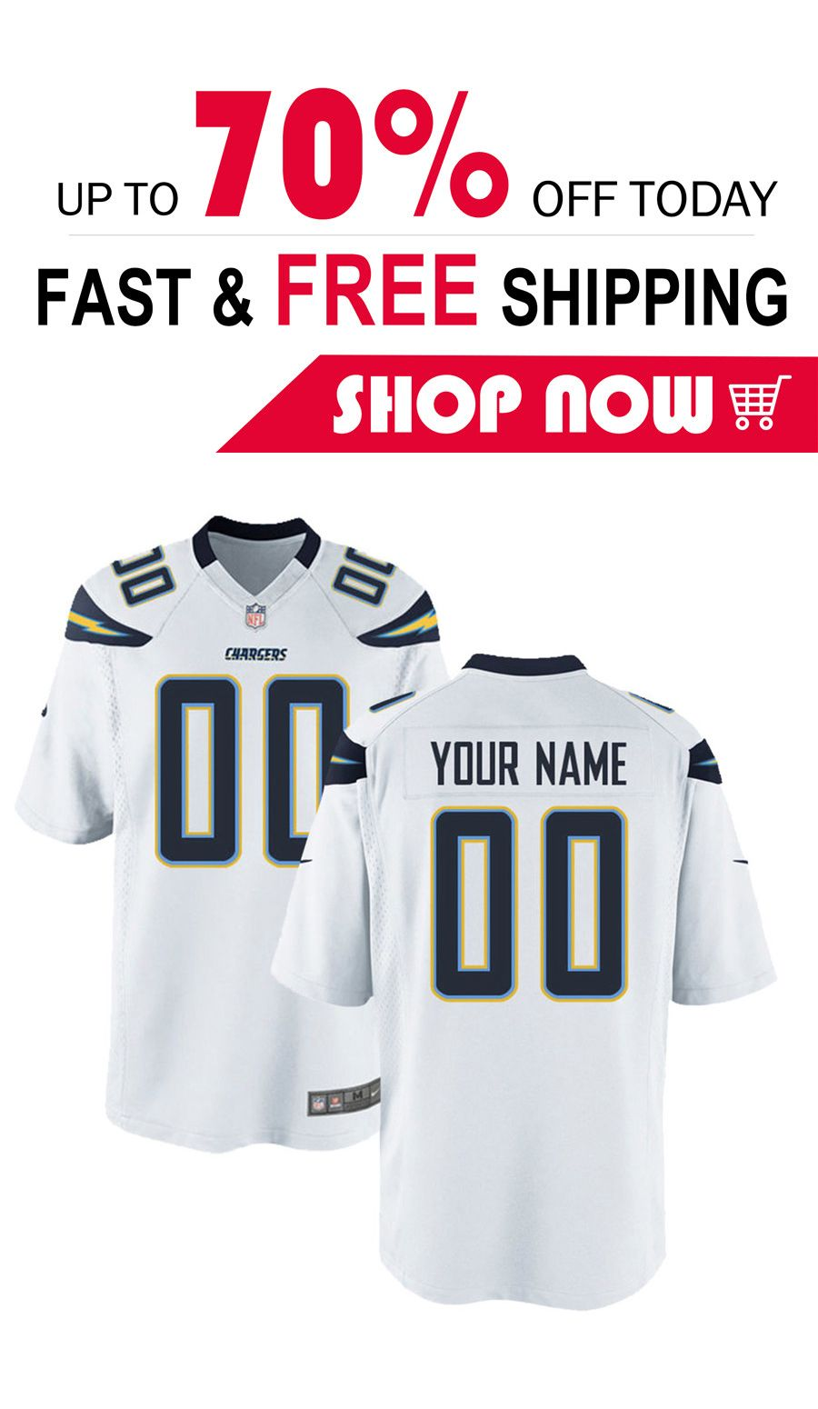 new arrival f1f30 97433 mens Los Angeles Chargers custom football Game jersey in ...