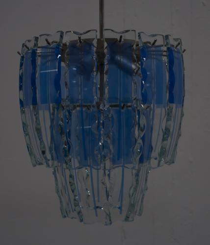 Murano Kronleuchter aus Gemeißeltem Glas von Fontana Arte, 1960er ...