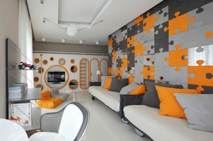 Waende Gestalten Wandgestaltung Farbgestaltung Wandmuster Muster Puzzle