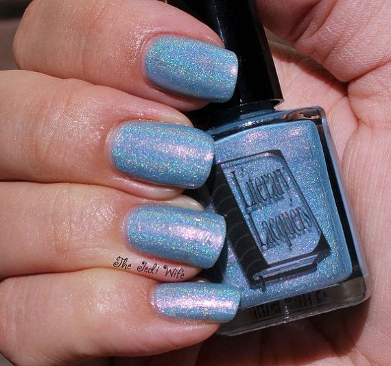 Swallowed Up in Blue Full Size Holographic by LiteraryLacquer