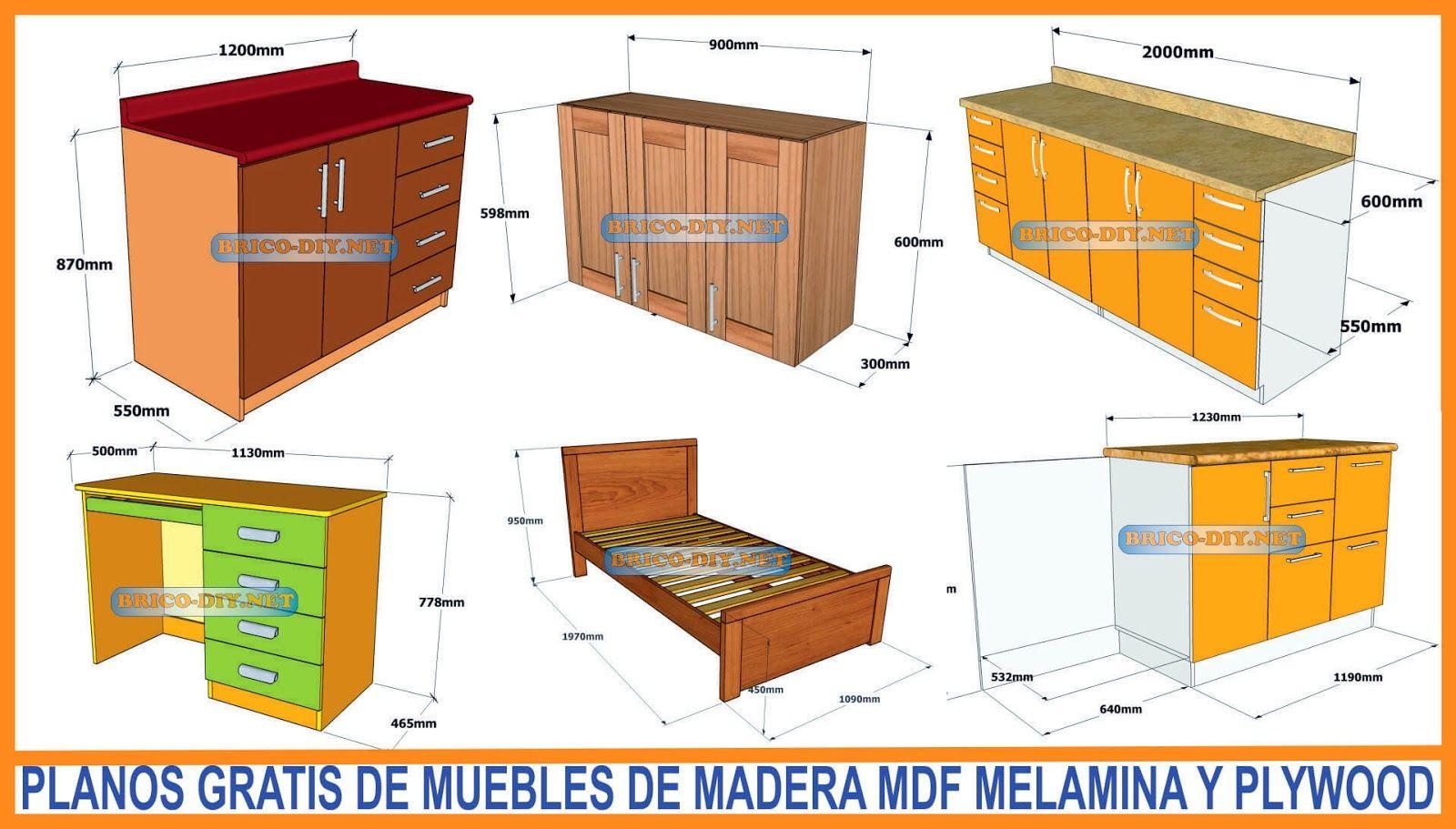 Planos Gratis De Muebles De Madera Melamina Y Mdf Hola