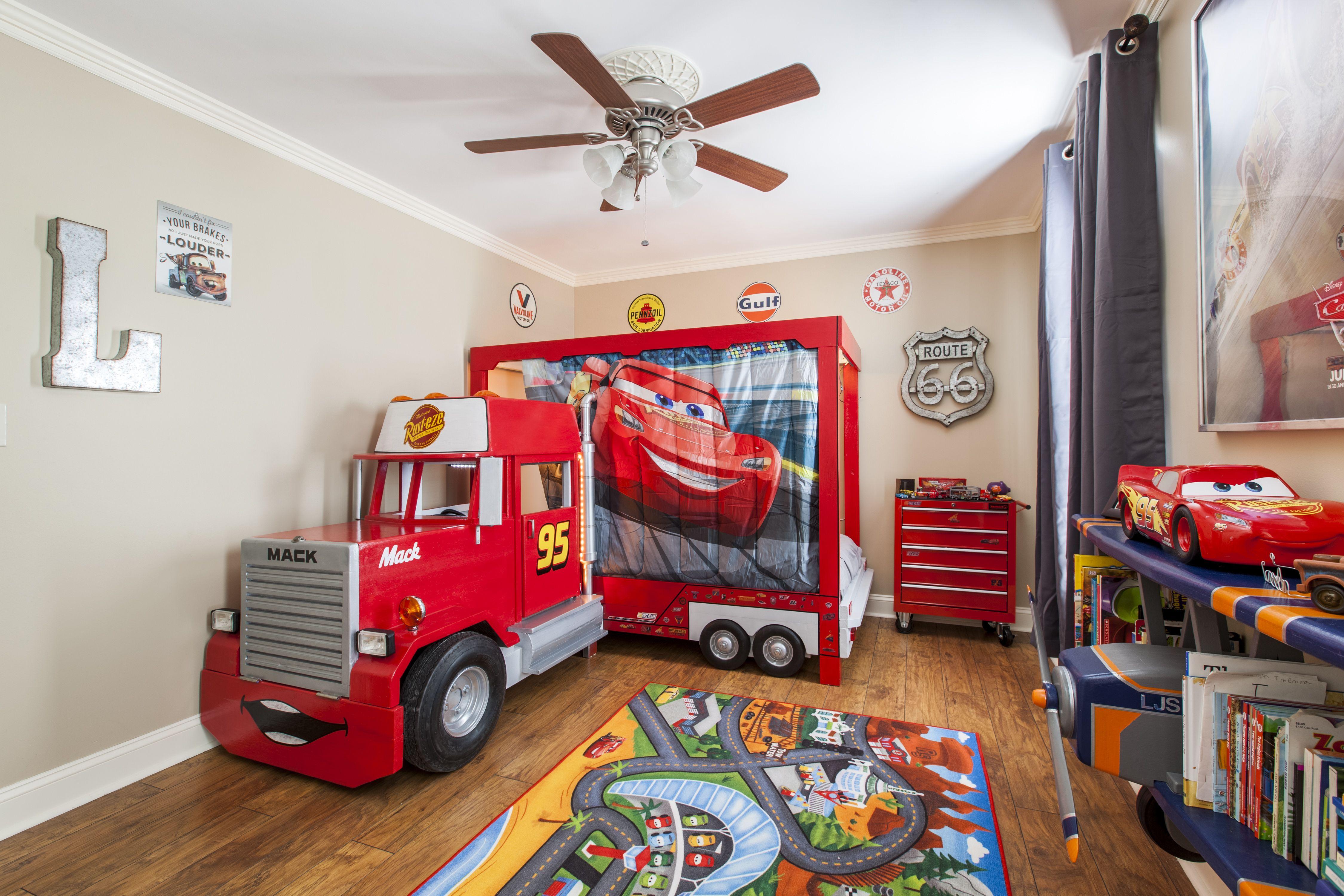 buy online 905fe c519a Disney CARS Mack Truck Toddler Bed. | Griff Toddler Room in ...
