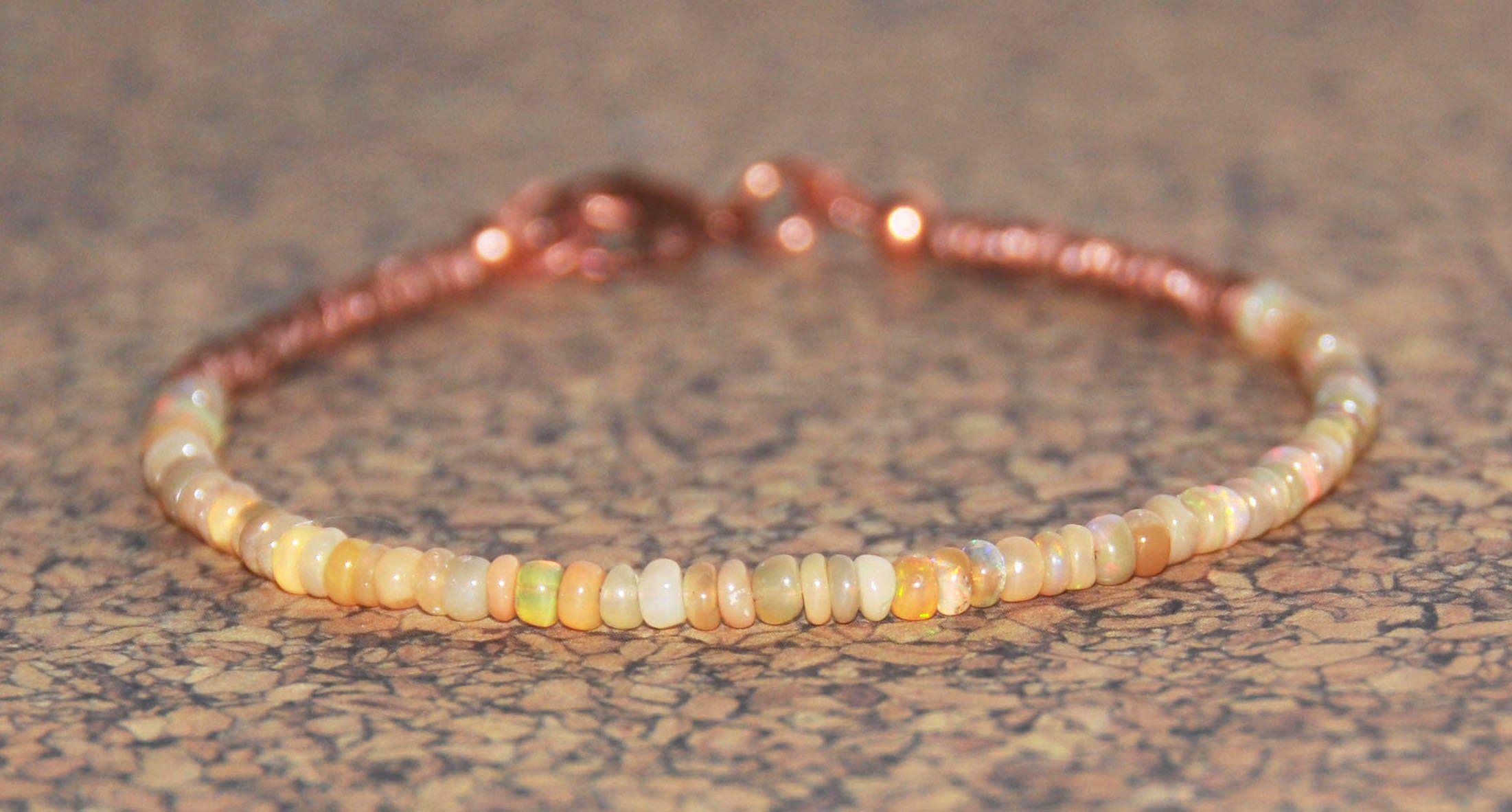 Ethiopian opal xl braceletsmall anklet healing copper