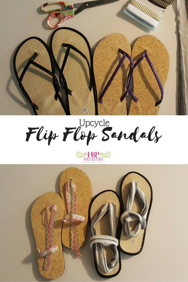 Flip Flop to Sandal Upcycle from H&P Artistry