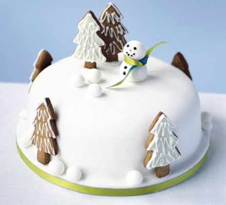 Snowman In The Garden Cake Recipe Cake Garden Cakes Cake