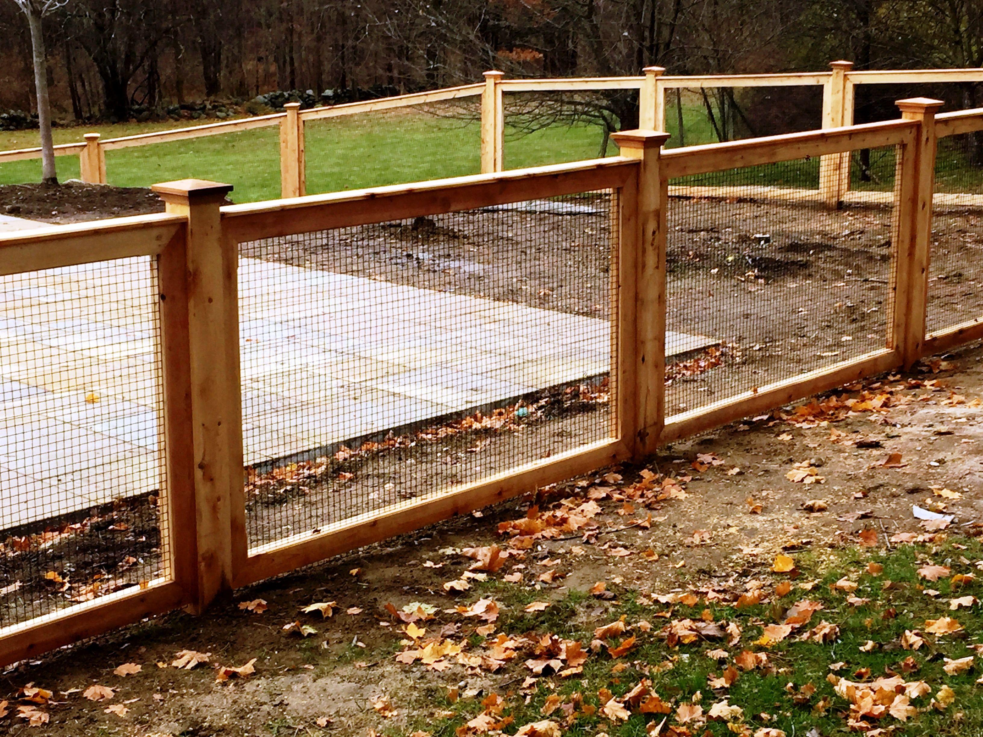 Custom Cedar Deer Fencing With Welded Wire Pool Fence Deer Fence