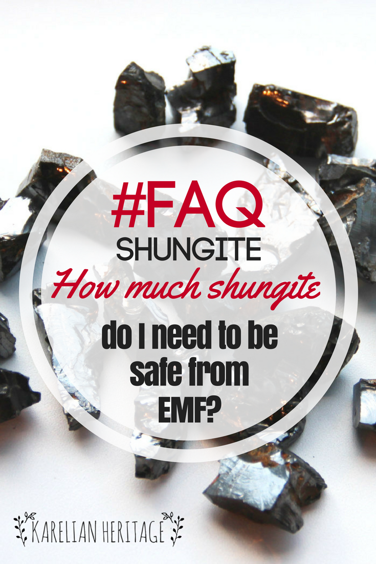 The more shungite items you have surrounding you, the better