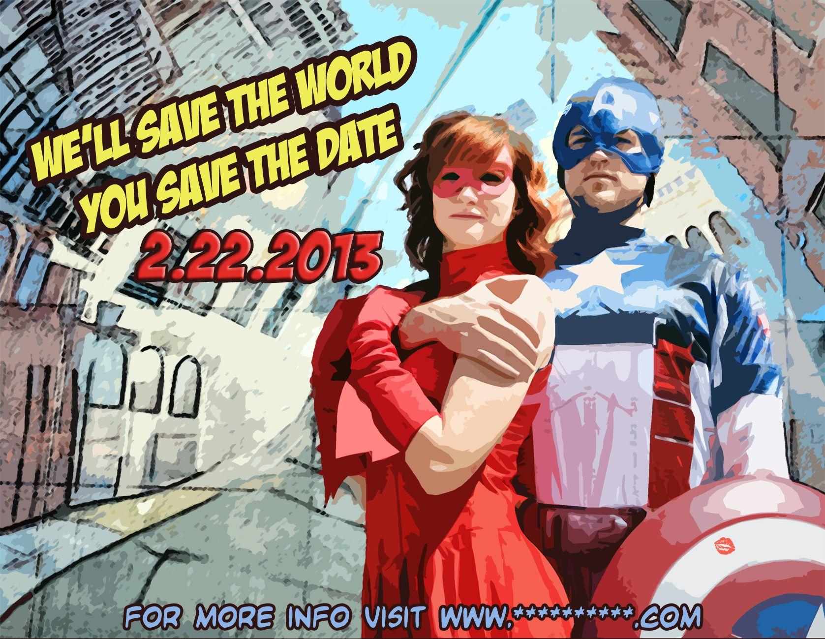 Superhero Save The Date