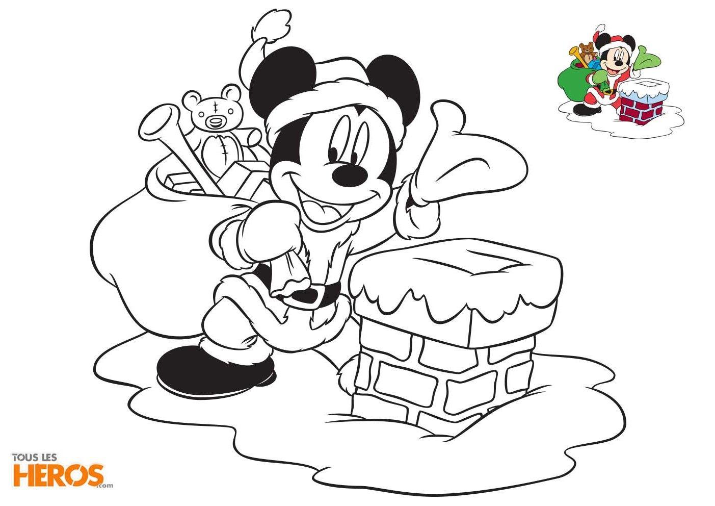 Coloriages Mickey et Minnie spécial Noël gratuits sur le ...