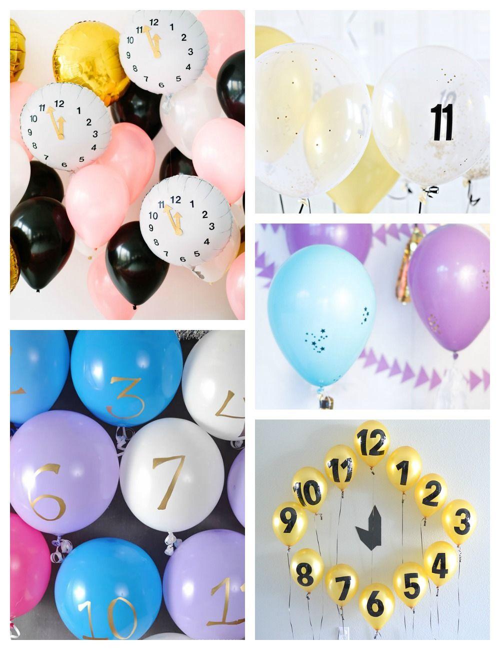 New Year's Eve Balloon Countdown Clock Countdown clock