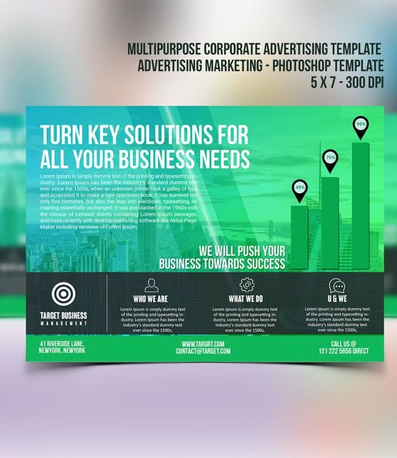 multipurpose corporate advertising template postcard advertising
