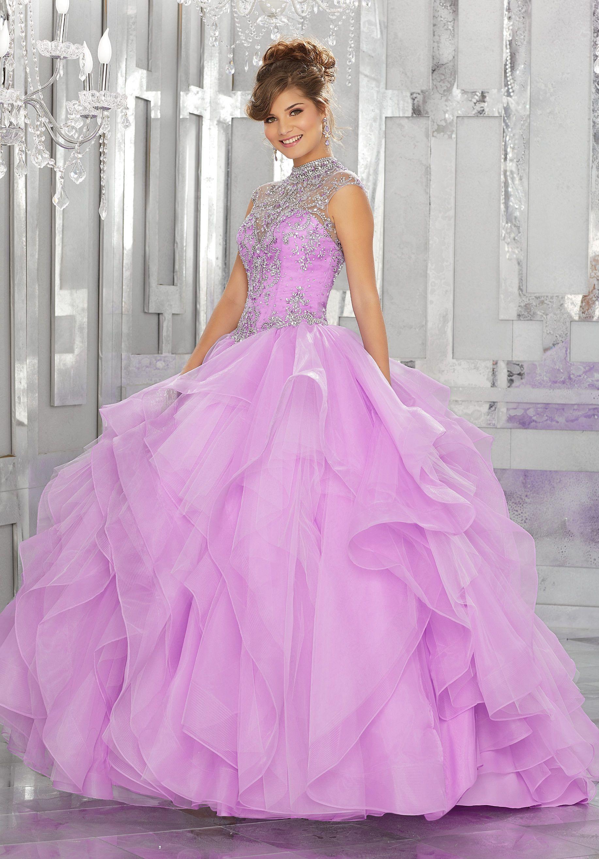 Beaded Illusion Quinceanera Dress by Mori Lee Vizcaya 89155 | Vestiditos