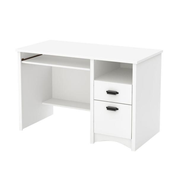 South Shore 47.5 In. Pure White Rectangular 2 -Drawer