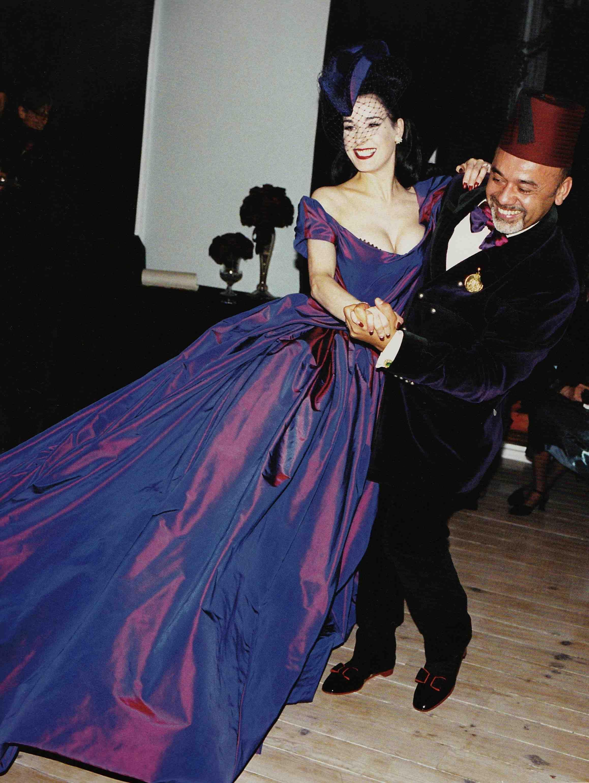 Dita Von Teese Wedding Style Dress Material