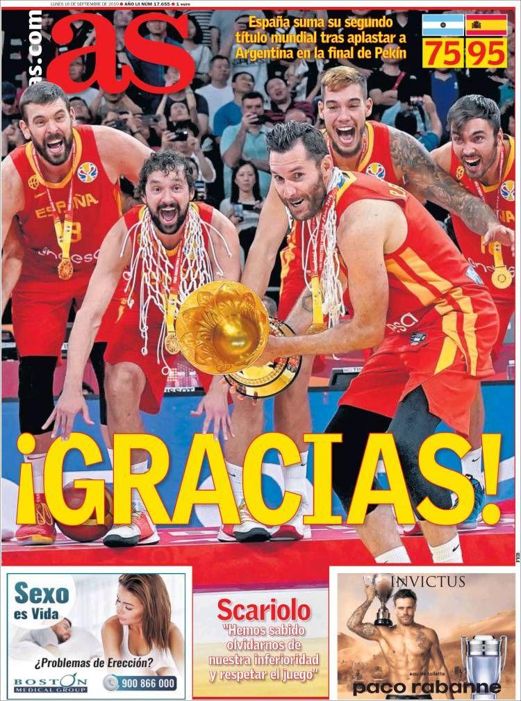 20190916 Portada de As (España) Resultados futbol