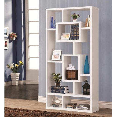Coaster Bookcases Geometric Cubed Rectangular Bookshelf