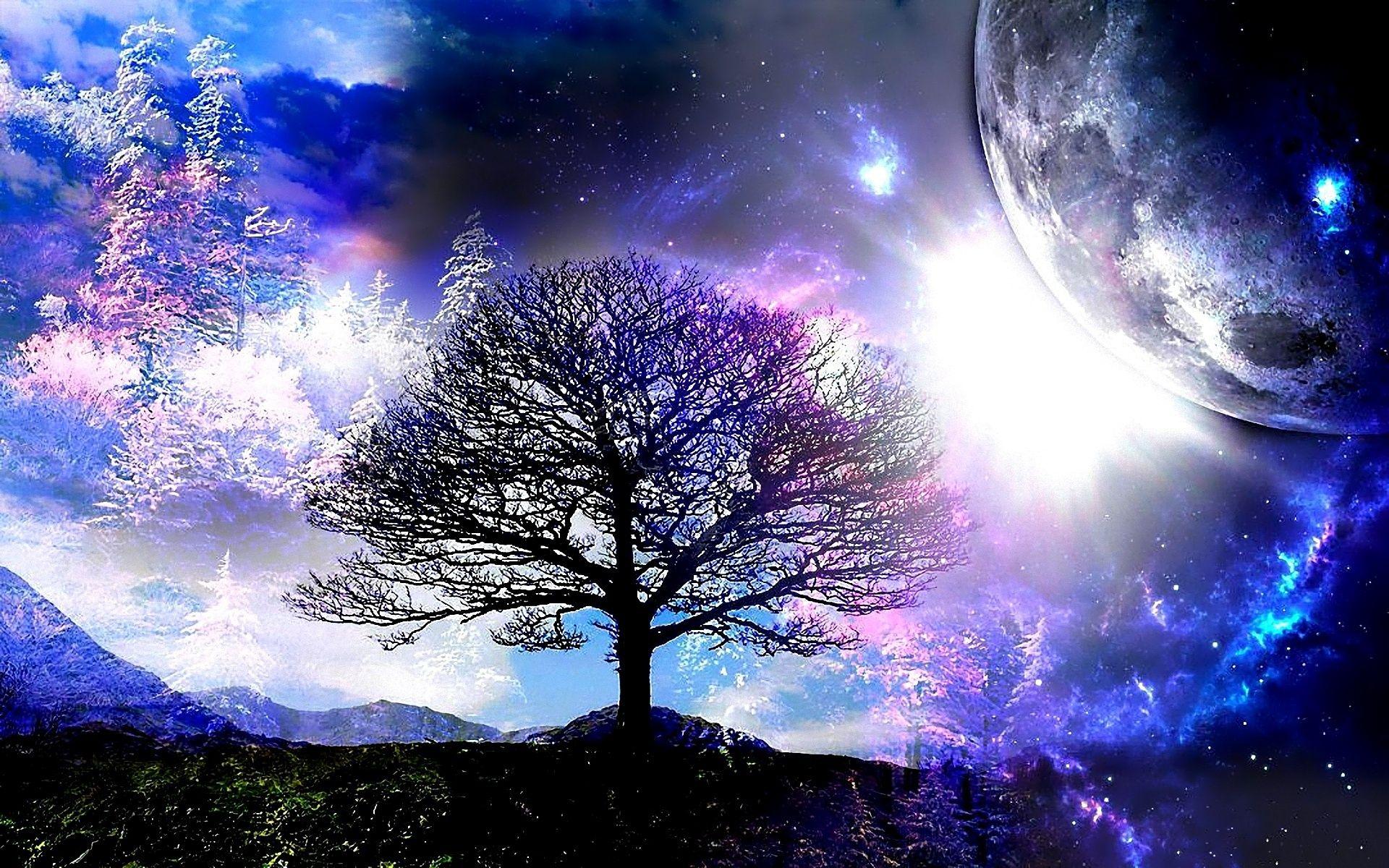 Fantasy Tree Wallpaper fantasy Pinterest Wallpaper