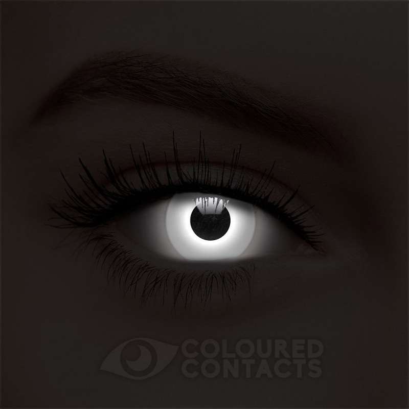 White Uv I Glow Zombie Halloween 30 Day Colored Contact Lens Party Contact Lenses Colored Color Contacts For Halloween Halloween Contact Lenses