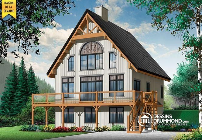 Southern Style House Plan - 2 Beds 200 Baths 1480 Sq Ft Plan #23 - Facade Maison Style Moderne