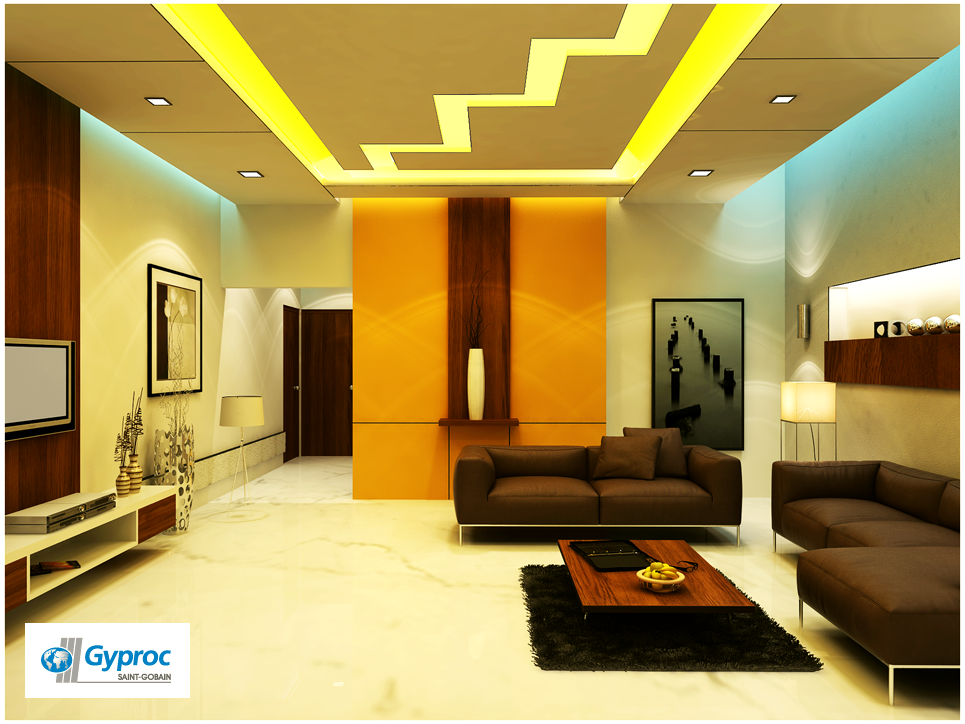 gyproc falseceiling can completely change your living room give it a refined and artistic. Black Bedroom Furniture Sets. Home Design Ideas