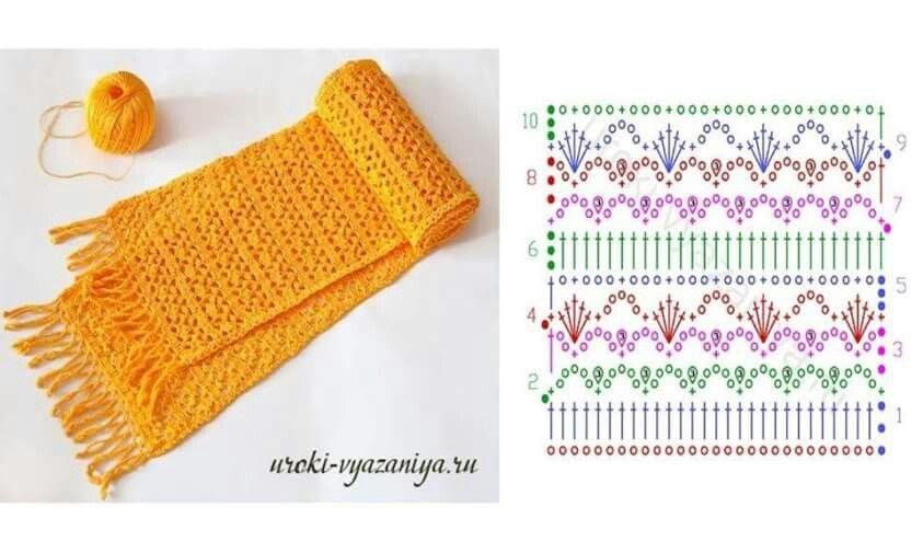 Bella bufanda... | Crochet | Pinterest | Bella