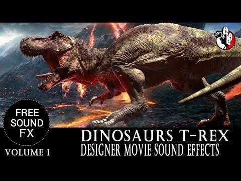 Dinosaur sound effects - T-Rex Designer Sound Effects Game sounds
