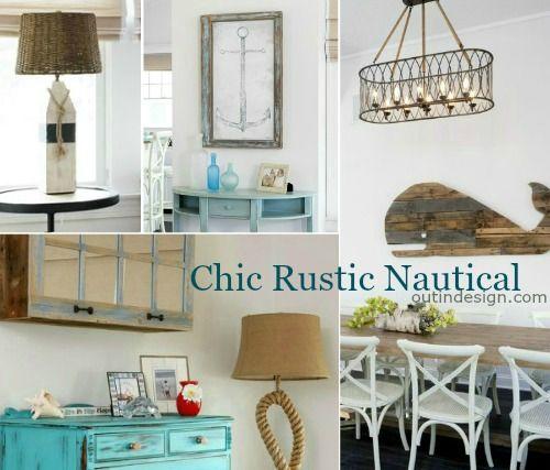 Nautical Home Decor Ideas With Reclaimed Wood Furnishings Rustic Accessories Rustic Nautical Decor Decor Home Decor