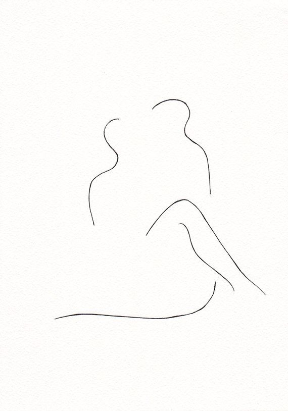 Simple Bedroom Art black and white original ink drawing. erotic bedroom art. lovers