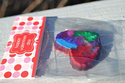 Heart-shaped crayons for toddler's Valentine's classmates?