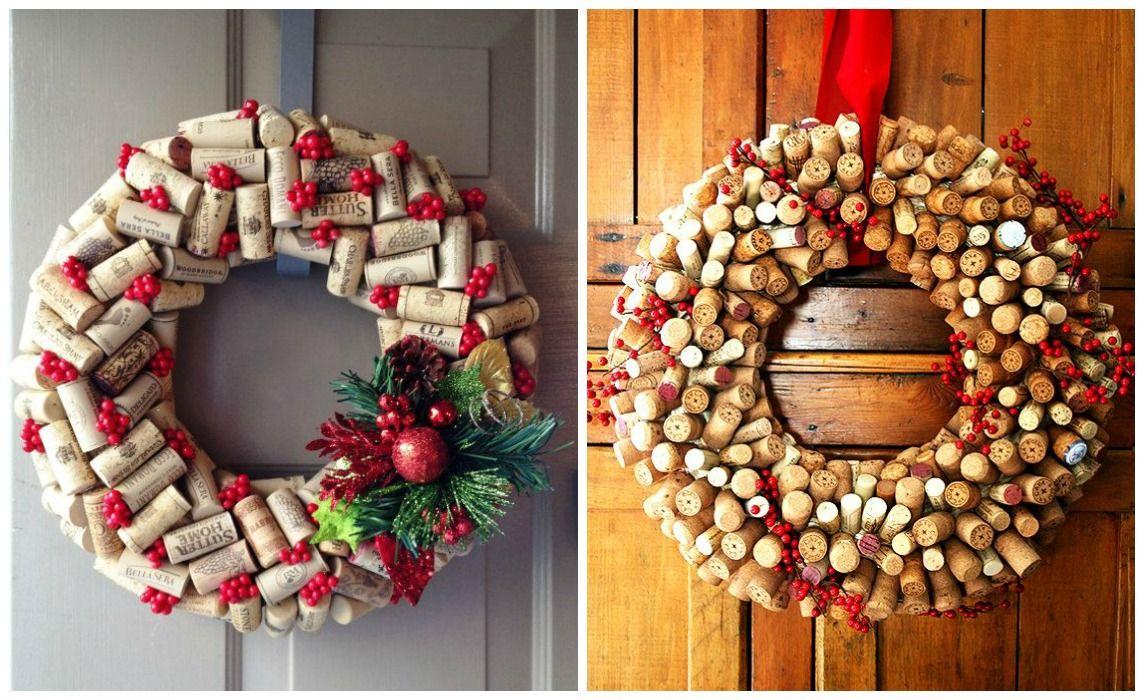 04 decoracion navidad corchos coronas navidad