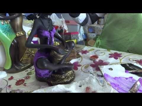 SANDRA ROSSI AFRICANA DE GESSO - YouTube