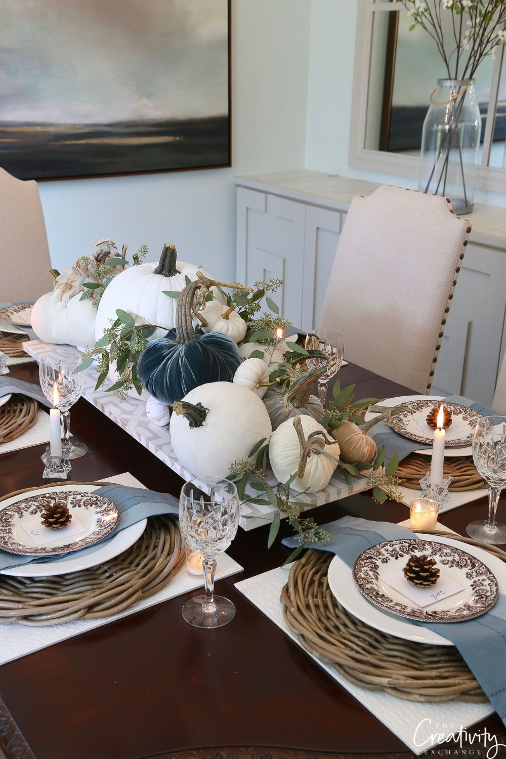 Fall Tabletop Decor Ideas Moody Monday