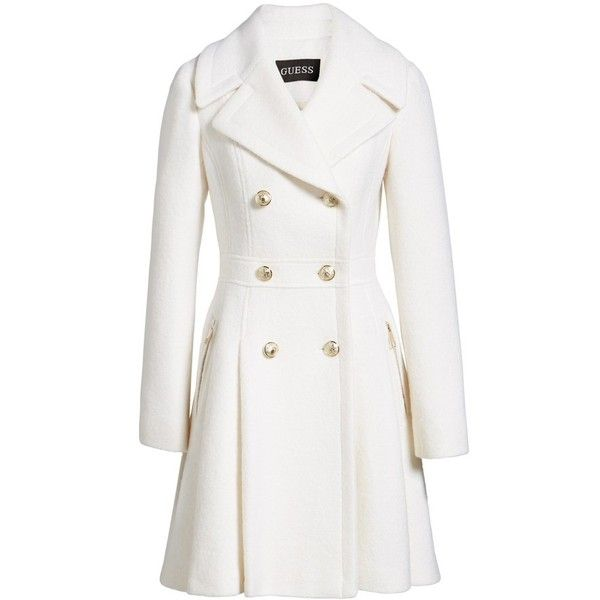 new arrival fb75c cd1a5 Women's Guess Double Breasted Wool Blend Coat ($140 ...